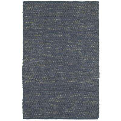 Distressed Natural Indigo 9 ft. x 12 ft. Indoor Area Rug