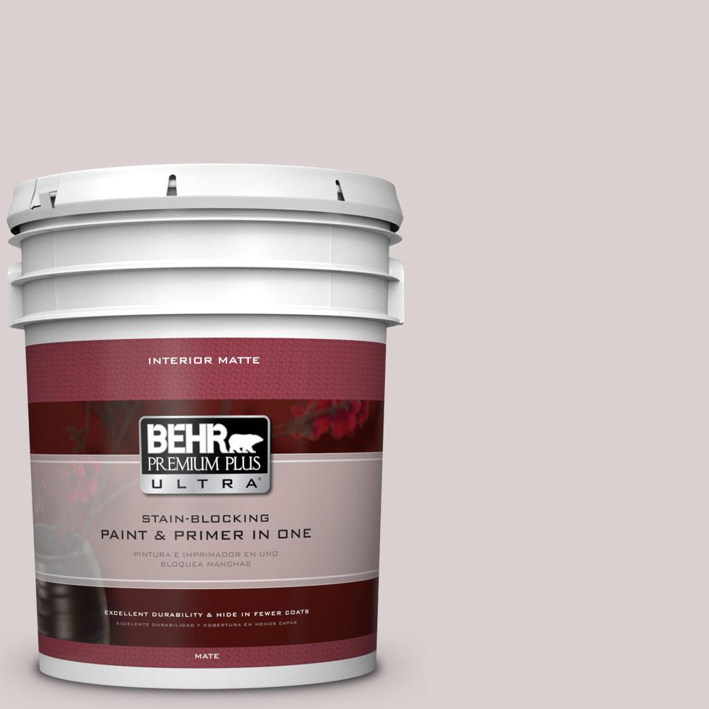 BEHR Premium Plus Ultra 5 gal. #ICC-43 Tranquil Retreat Flat/Matte Interior Paint