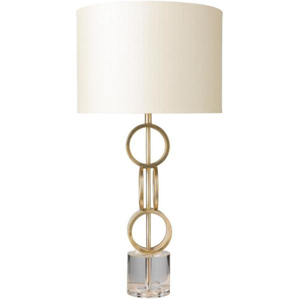 Isabelle 31 in. Gold Indoor Table Lamp