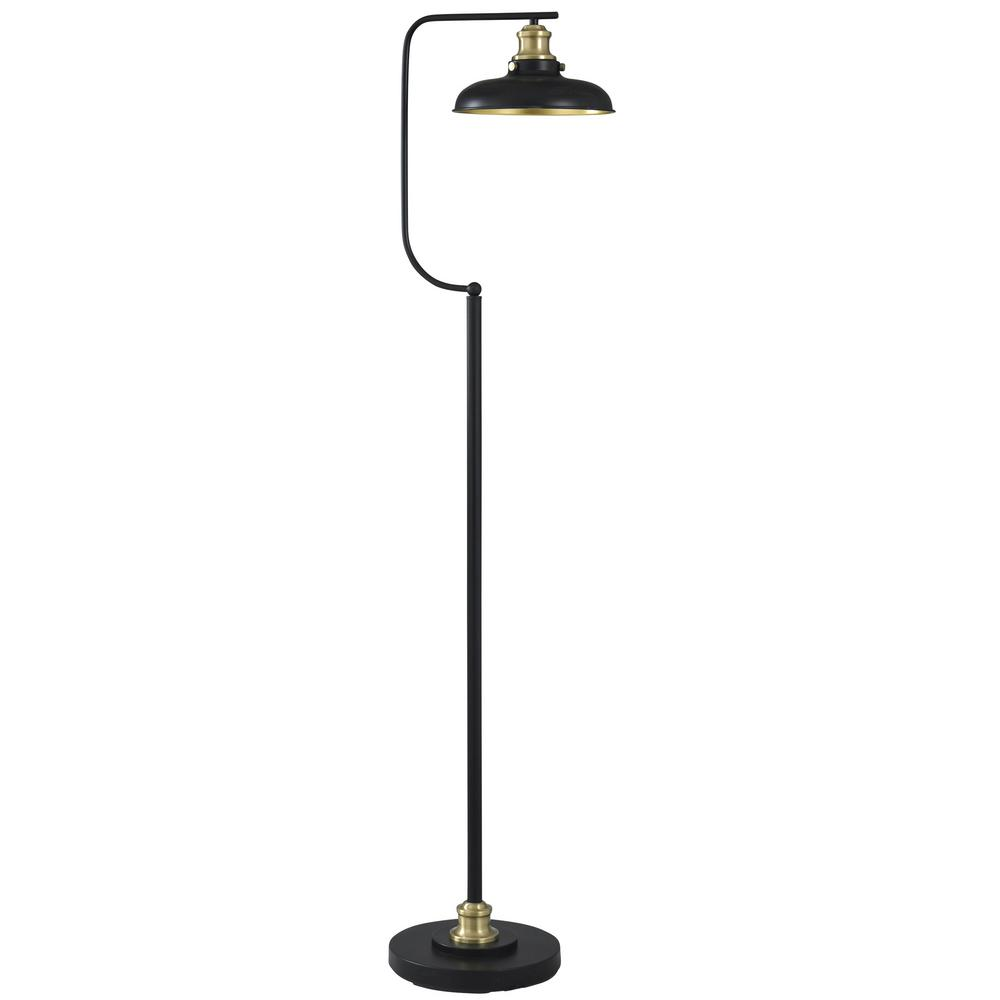 Black Gold Floor Lamp With Arvin Metal Shade