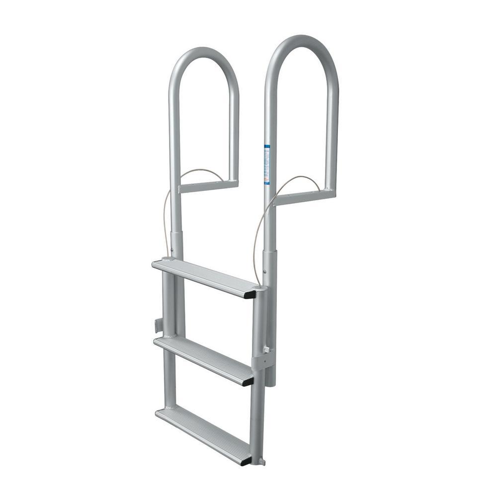 Tommy Docks 3-Rung Wide Rung Aluminum Lifting Dock Ladder