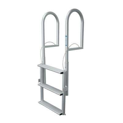 3-Rung Wide Rung Aluminum Lifting Dock Ladder