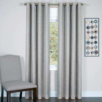 Taylor Silver Polyester Lined Grommet Panel - 50 in. W x 63 in. L