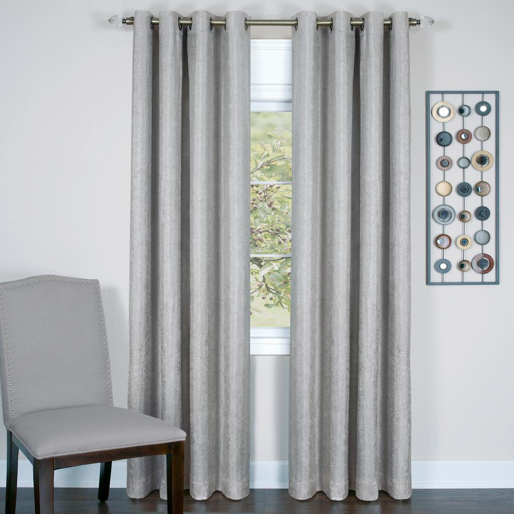 Achim Taylor Silver Polyester Lined Grommet Panel - 50 in. W x 84 in. L