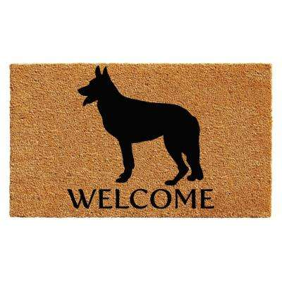 German Shepherd Door Mat 17 in. x 29 in.
