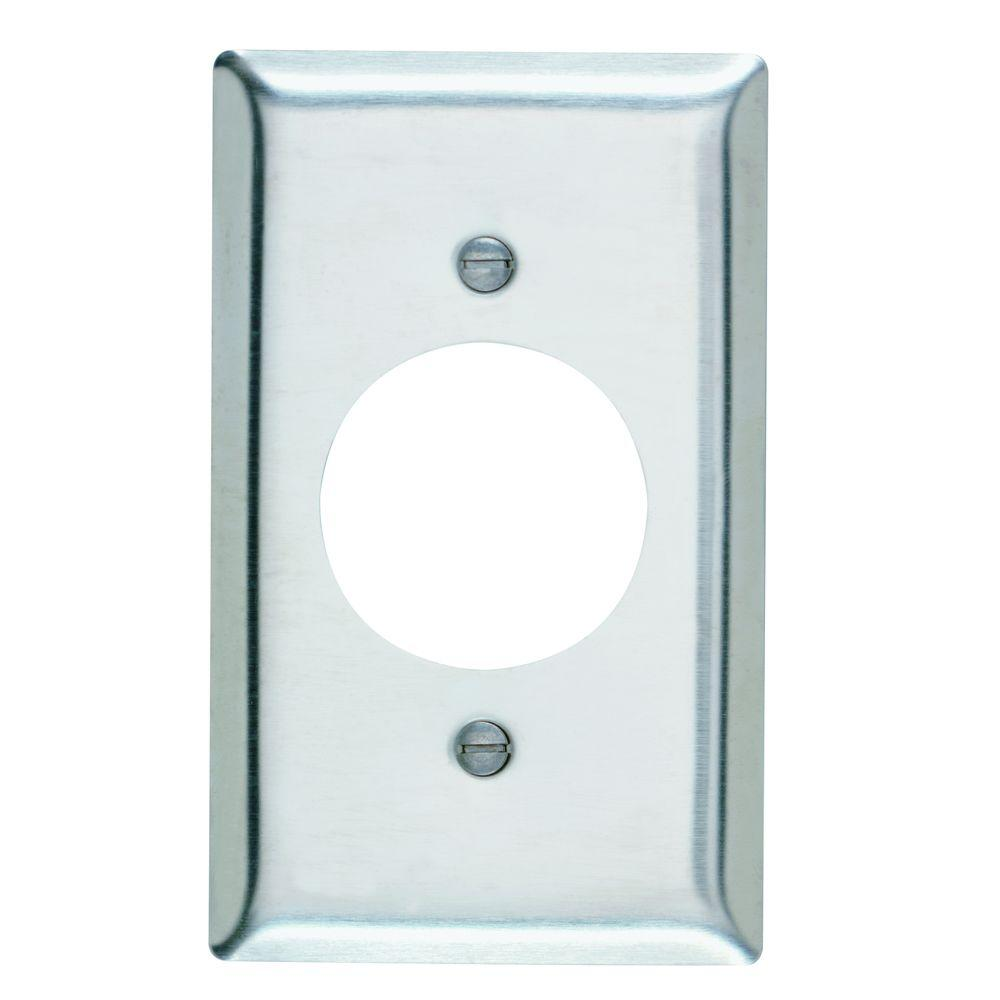 Legrand P And Seymour 1 Gang Outlet Wall Plate Stainless Steel