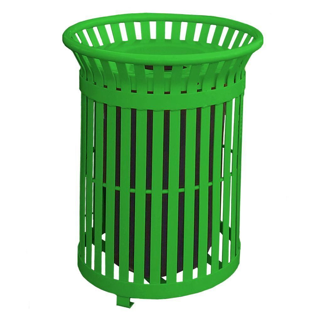 paris commercial trash cans 461 304 0081 64_1000 toter 96 gal green trash can with wheels and attached lid 025596 HDX Outdoor Trash Can at creativeand.co