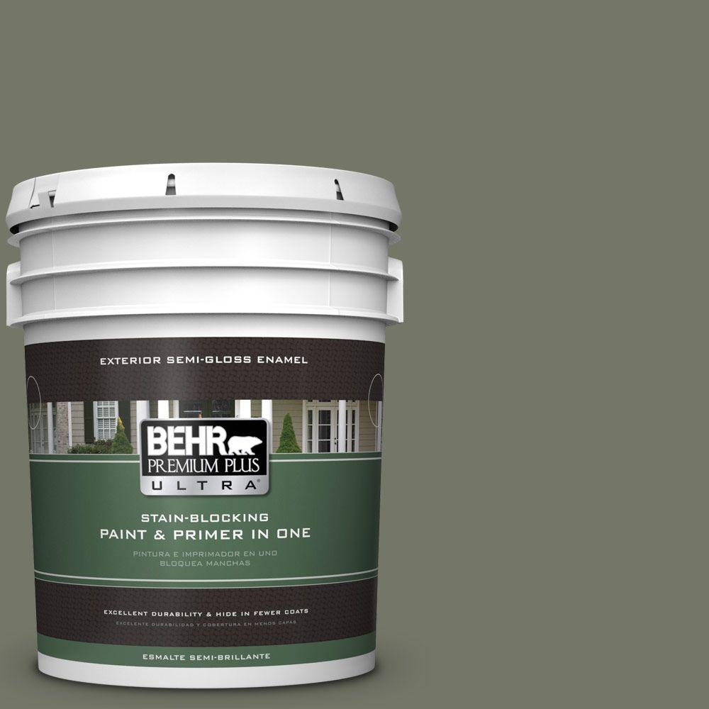 BEHR Premium Plus Ultra Home Decorators Collection 5-gal. #HDC-AC-20 Halls Of Ivy Semi-Gloss Enamel Exterior Paint