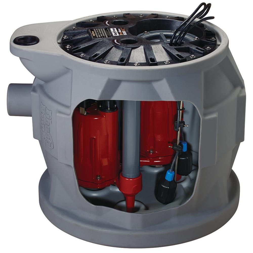 Liberty Pumps Pro680 Series 1 HP Submersible Compact Duplex Pump System