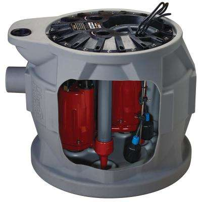 Pro680 Series 1 HP Submersible Compact Duplex Pump System