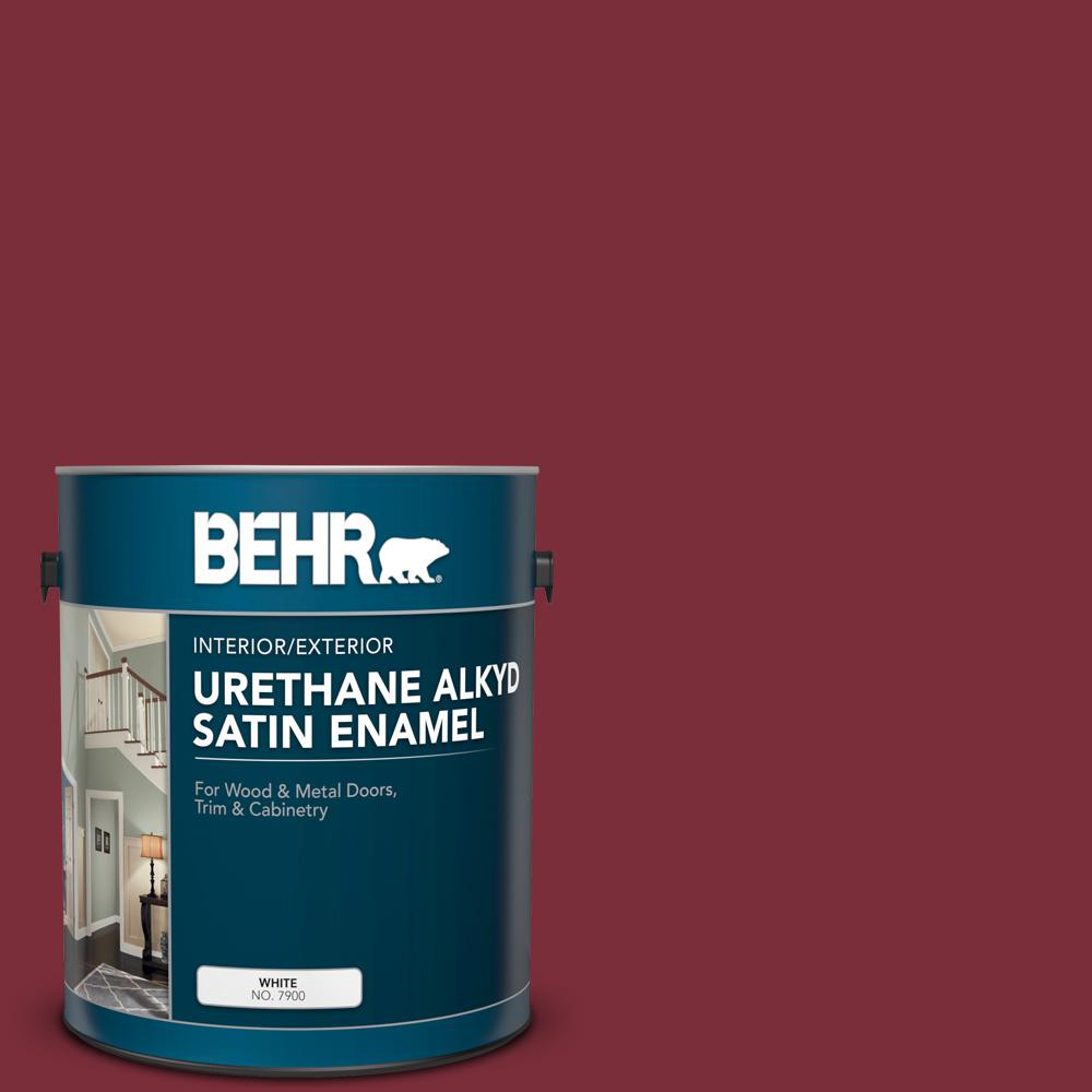BEHR 1 gal  Home Decorators Collection #HDC-CL-11 January Garnet Urethane  Alkyd Satin Enamel Interior/Exterior Paint