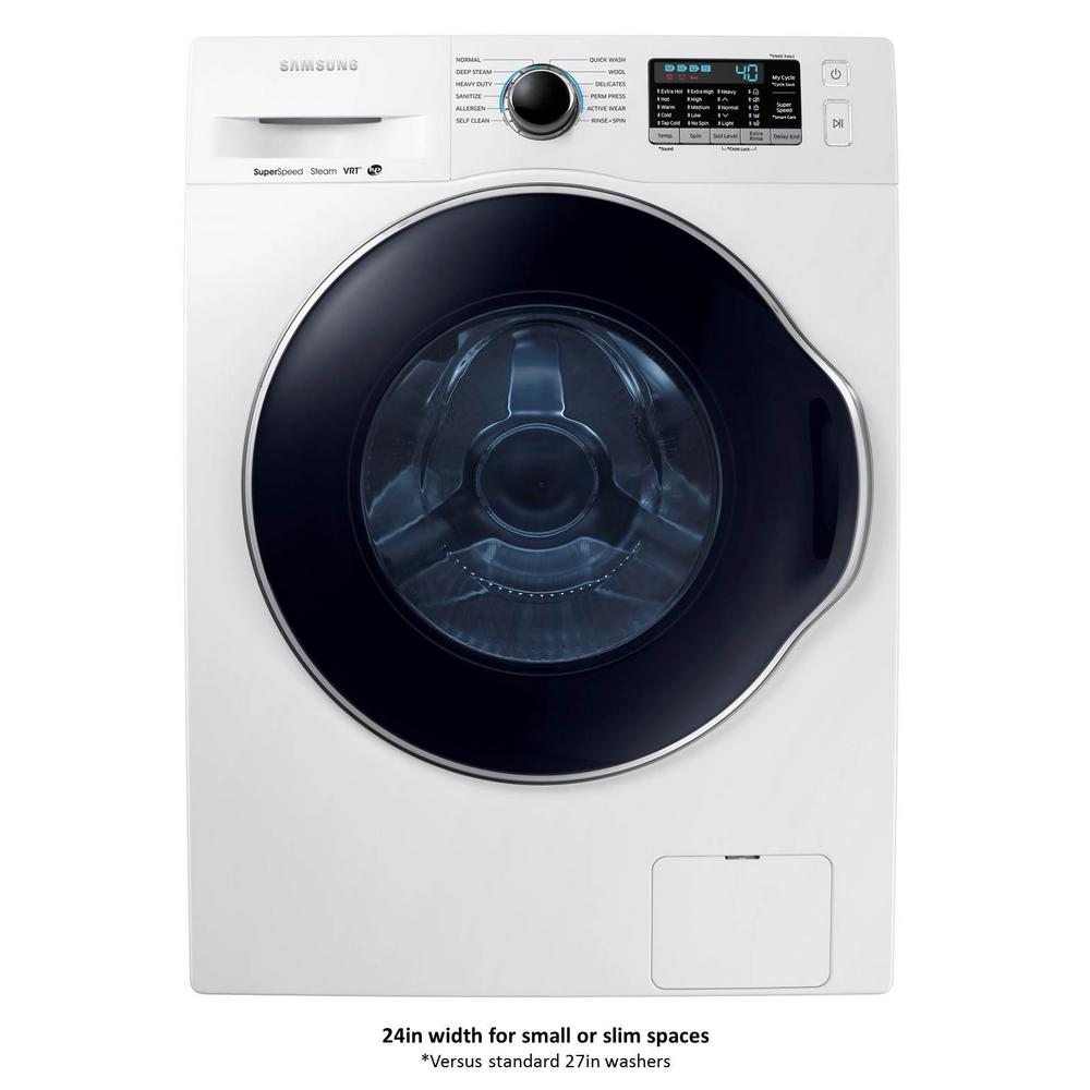 Samsung 24 In 2 Doe Cu Ft High Efficiency Front Load Washer With Steam White Energy Star