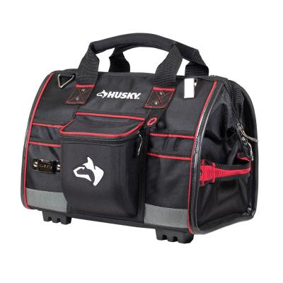 16 in. Large Mouth Tool Bag with Tool Wall