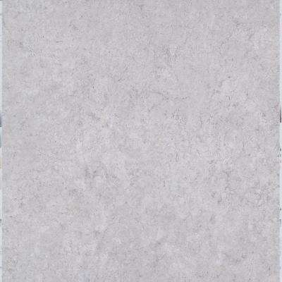 White Fossil 18 in. x 18 in. Peel and Stick Vinyl Tile (27 sq. ft. / case)