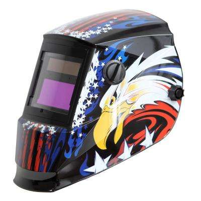 Solar Power Auto Darkening Welding Helmet with Large Viewing Size 3.78 in. x 2.5 in. Great for MMA MIG TIG