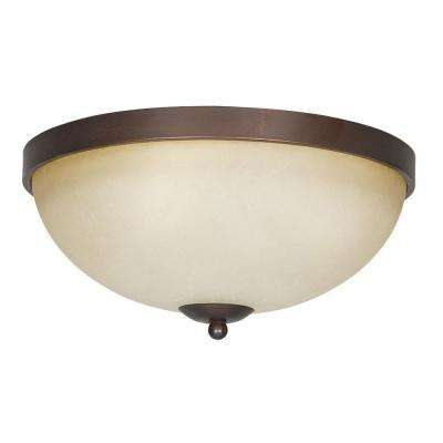 Siebert 3-Light Tique Bronze Flushmount