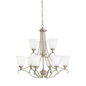 Sea Gull Lighting Parkview 9-Light Antique Brushed Nickel Chandelier with LED... by Sea Gull Lighting