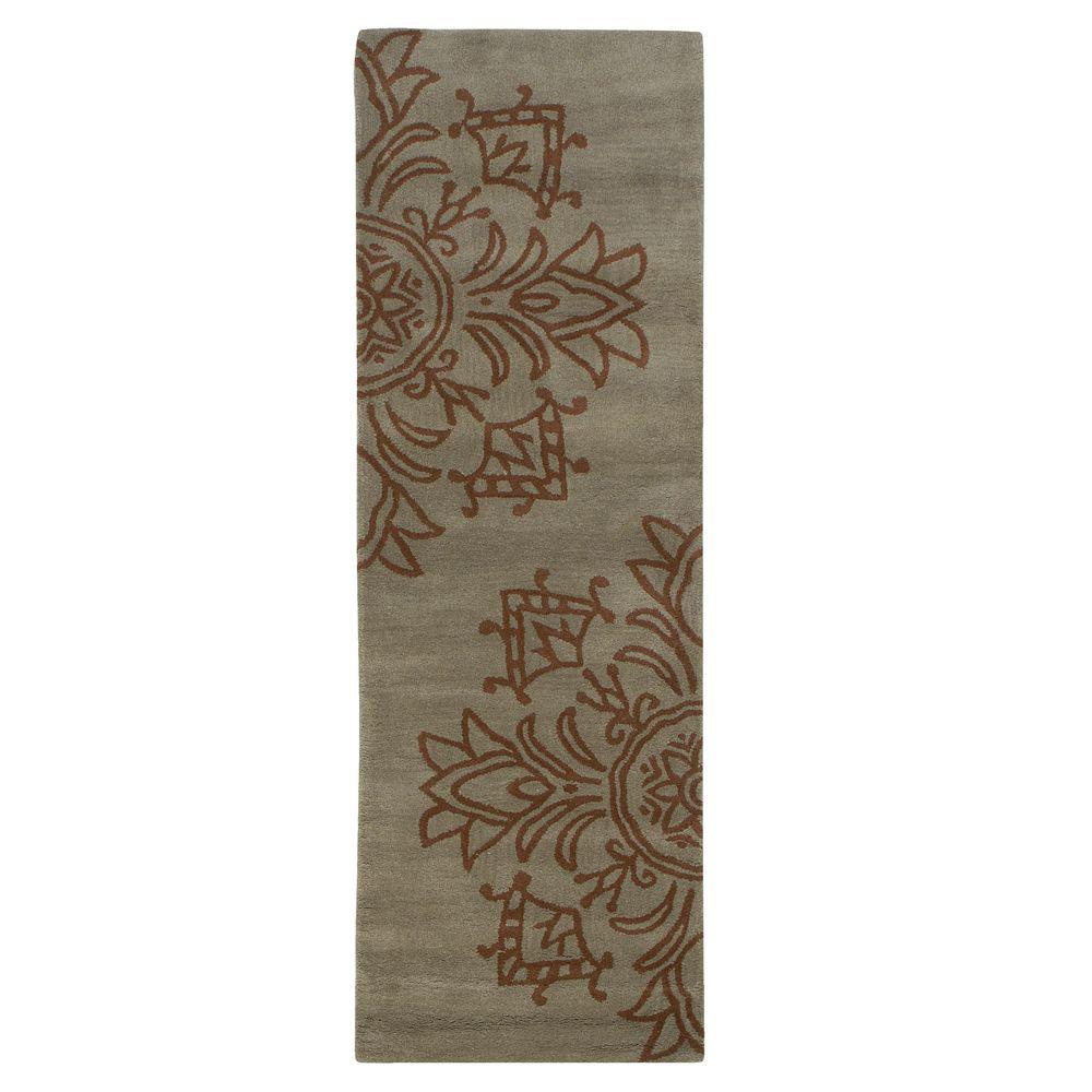 Home Decorators Collection Tempo Blue 2 ft. 9 in. x 14 ft. Runner