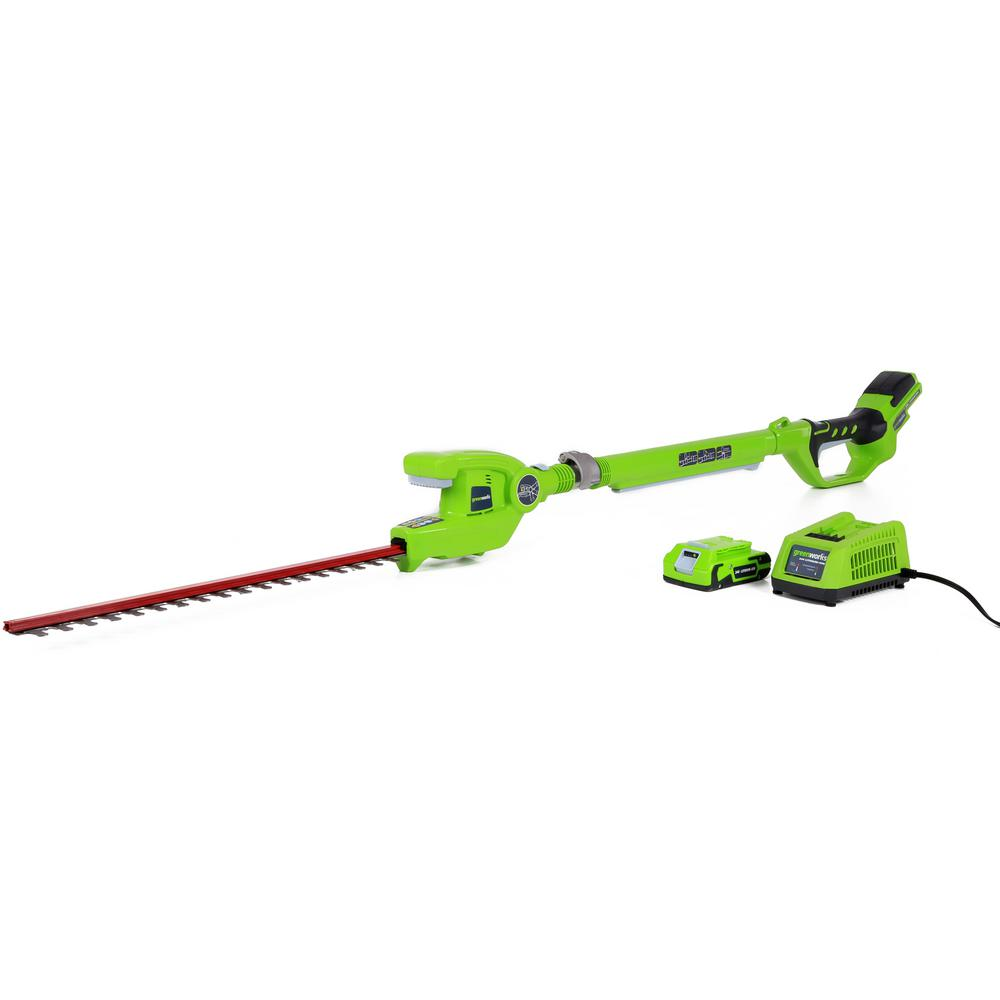 G-24 20 in. 24-Volt Cordless Extended Reach Hedge Trimmer - Battery