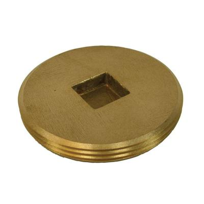 4 in. Countersunk Southern Code Brass Cleanout Plug 4-1/2 in. O.D. for DWV