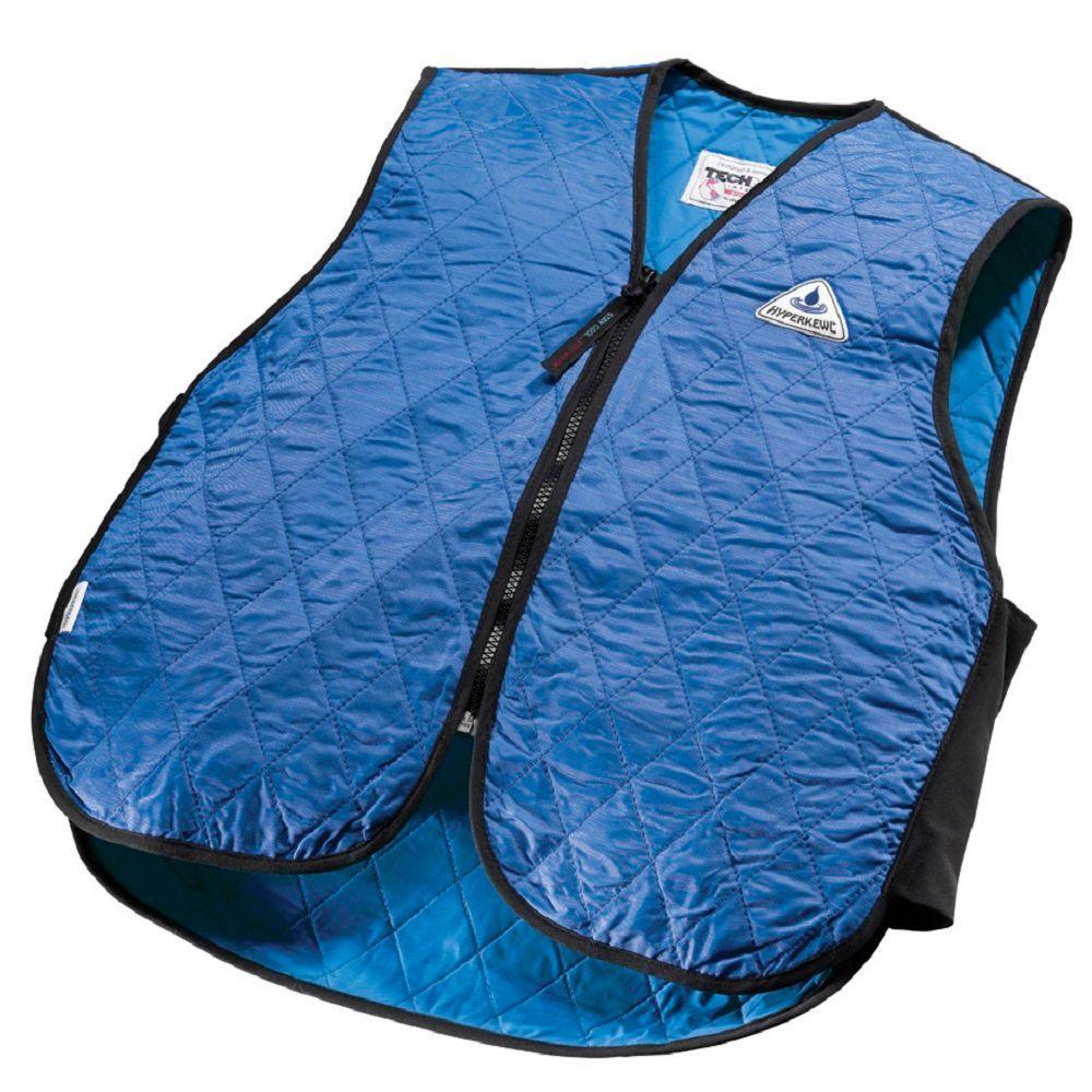 Large Blue Cooling Sport Vest