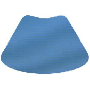 Kraftware Fishnet Wedge Placemat in Process Blue (Set of 12) by Kraftware