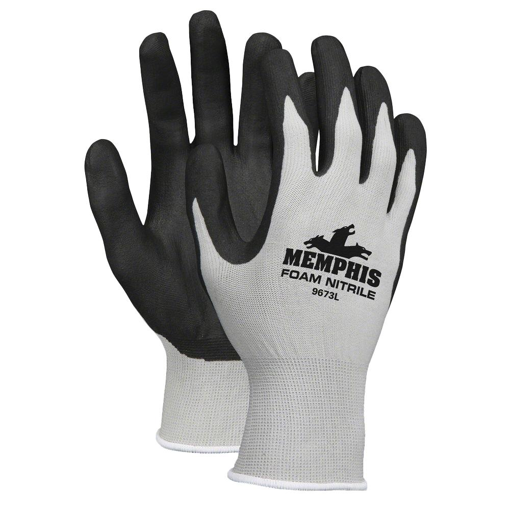 fe77b2fca697c MCR Safety Nitrile Coated Knit Gloves-MCS9673L - The Home Depot