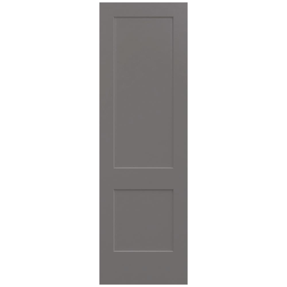 Monroe Weathered Stone Painted Smooth Solid  sc 1 st  Home Depot & JELD-WEN 30 in. x 96 in. Monroe Weathered Stone Painted Smooth Solid ...