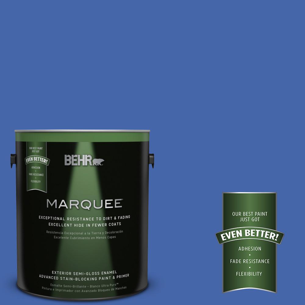 BEHR MARQUEE 1-gal. #P530-6 Indigo Batik Semi-Gloss Enamel Exterior Paint