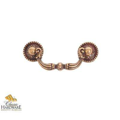 Louis XVI 3.39 in. French Antique Gold Drop Pull