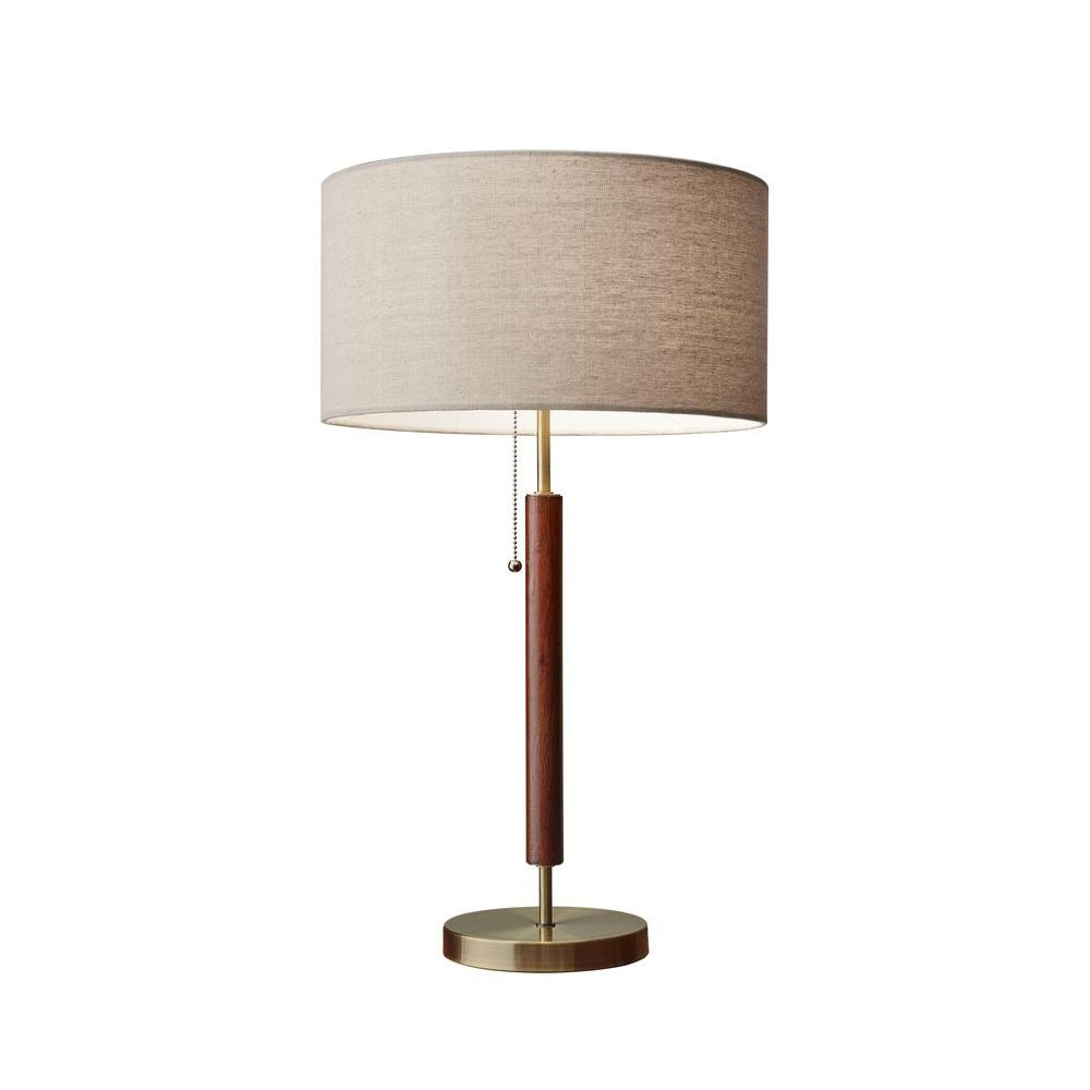 Adesso Hamilton 26 In Brass Table Lamp 3376 15 The Home