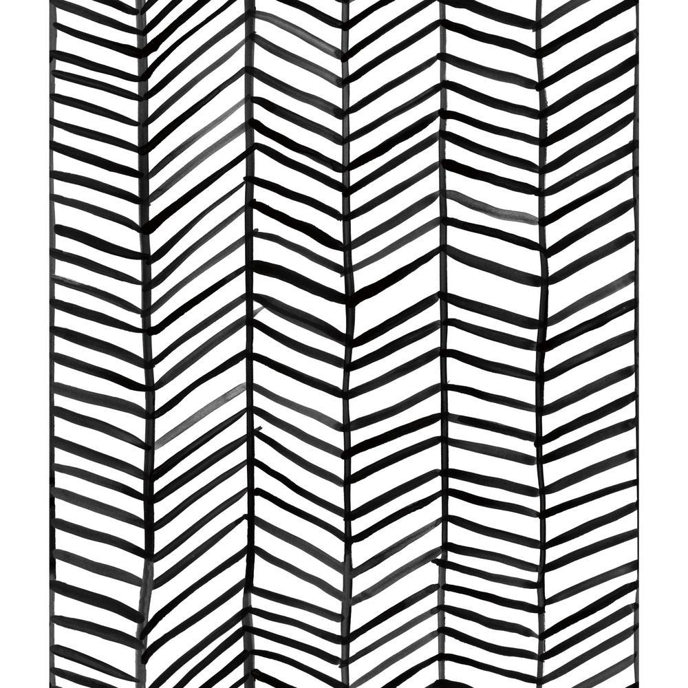 28.29 sq. ft. Cat Coquillette Herringbone Peel and Stick Wallpaper