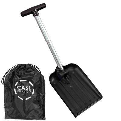 Automotive Folding Snow Shovel with 8 in. Blade and Bag in Black