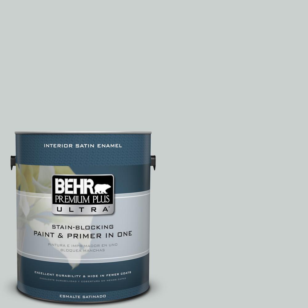 1 gal. #HDC-MD-06G Sparkling Silver Satin Enamel Interior Paint