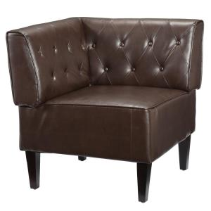 6 Home Decorators Collection Easton Brown Bonded Leather Breakfast Nook