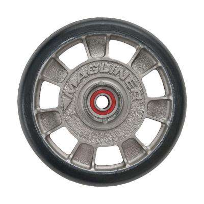 8 in. x 1-5/8 in. Hand Truck Wheel Mold-On Rubber with Sealed Semi-Precision Bearings