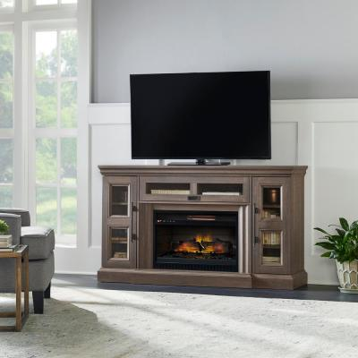 Abigail 60 in. Media Console Infrared Electric Fireplace in Country Ash Oak