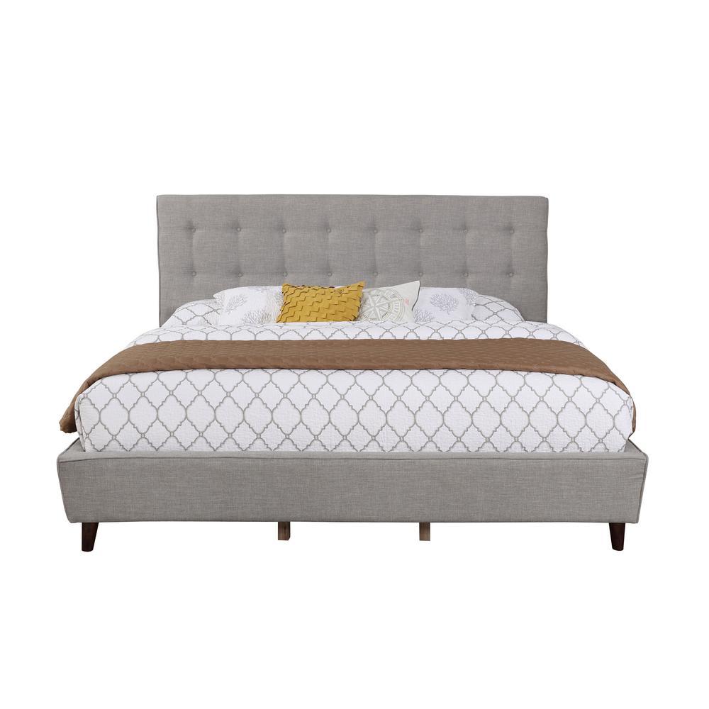 Gray King Size Linen Panel Full Set