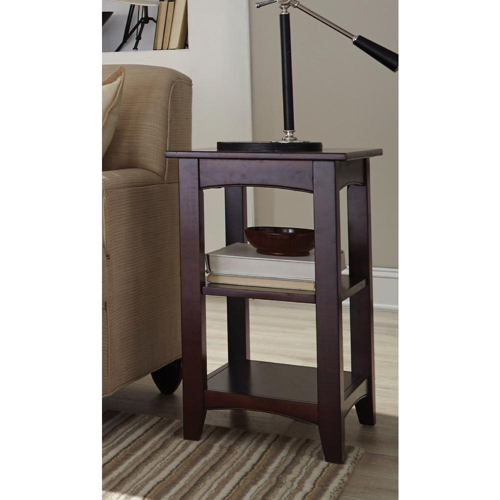 Alaterre Furniture Shaker Cottage Espresso Storage End Table
