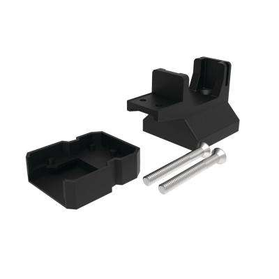 Avalon 2 in. Satin Black Aluminum Tristan Over-the-Top Post Bracket with End Post