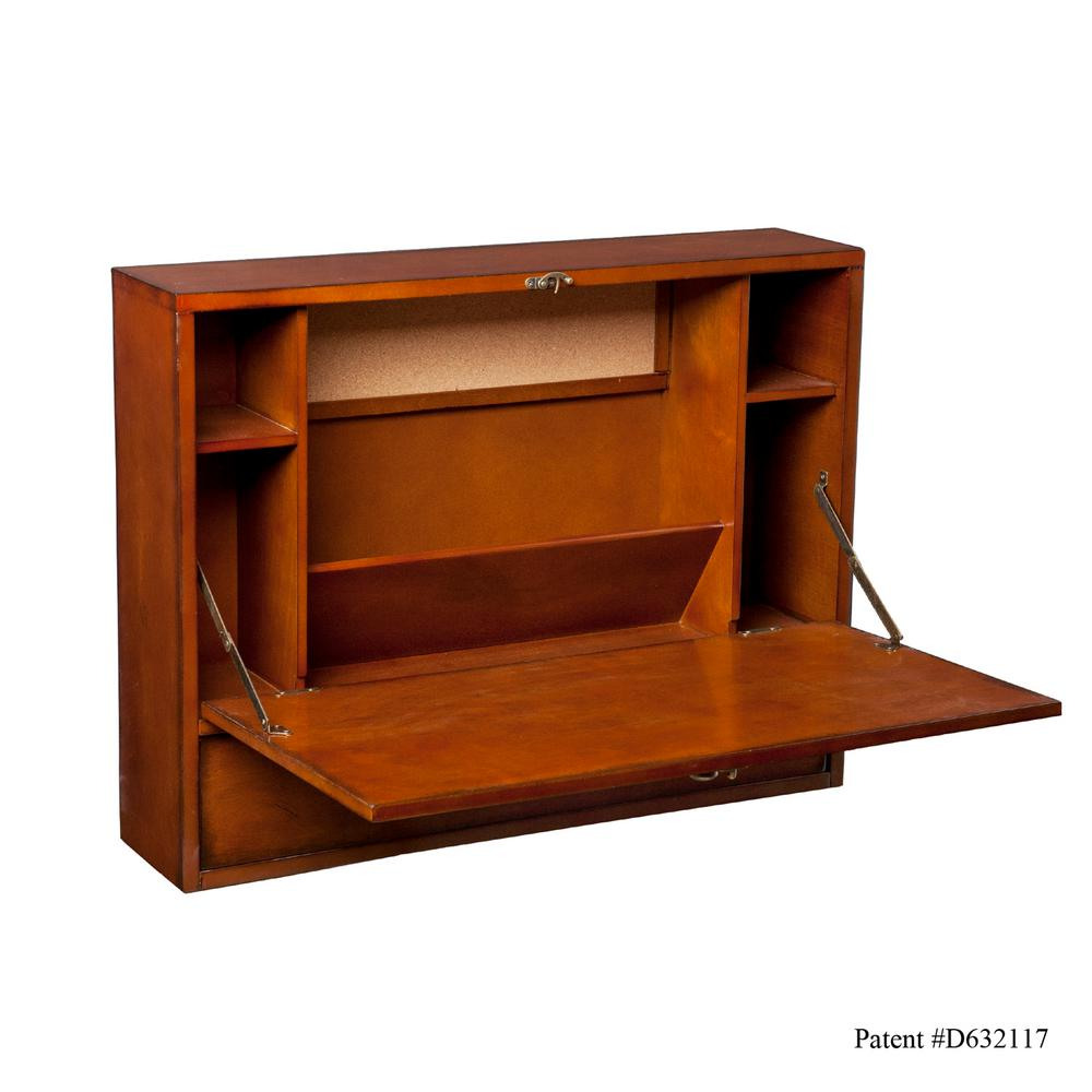 Southern Enterprises Brown Mahogany Desk, Brown Mahogany ...