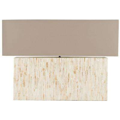 Ayers 15.8 In. Cream Line Pearl Lamp ...
