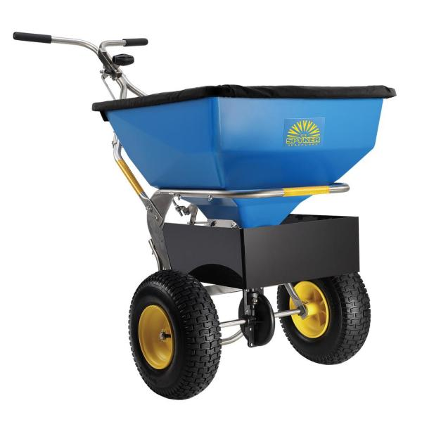 150 lbs. Capacity Ice Melt and Salt Spreader with Deflector