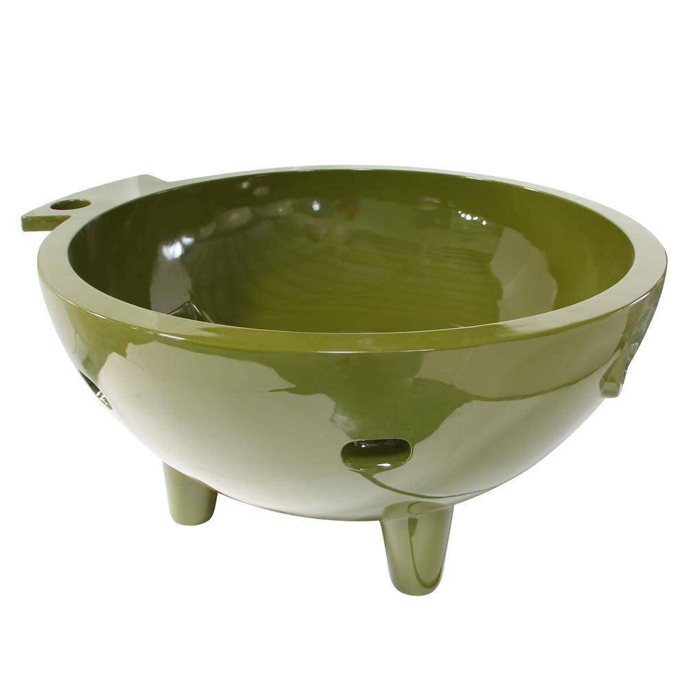 Acrylic Flatbottom Bathtub In Olive Green