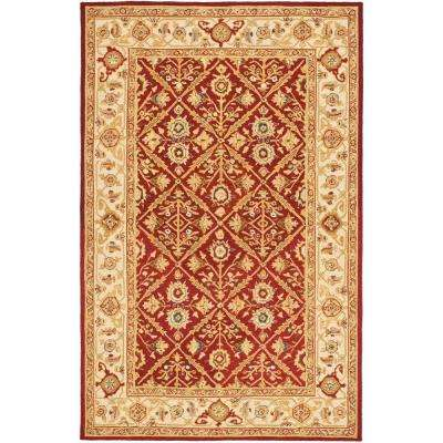 Chelsea Ivory/Red 6 ft. x 9 ft. Area Rug