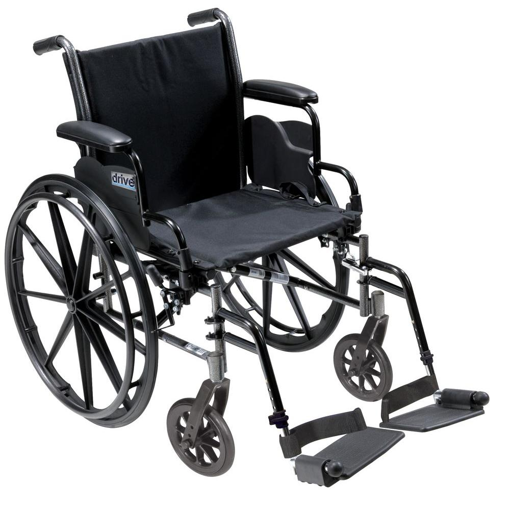 Cruiser III Light Weight Wheelchair with Flip Back Removable Arms, Desk