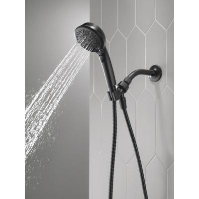 7-Spray Patterns with 1.75 GPM 4-3/16 in. Wall Mount Handheld Shower Head in Matte Black