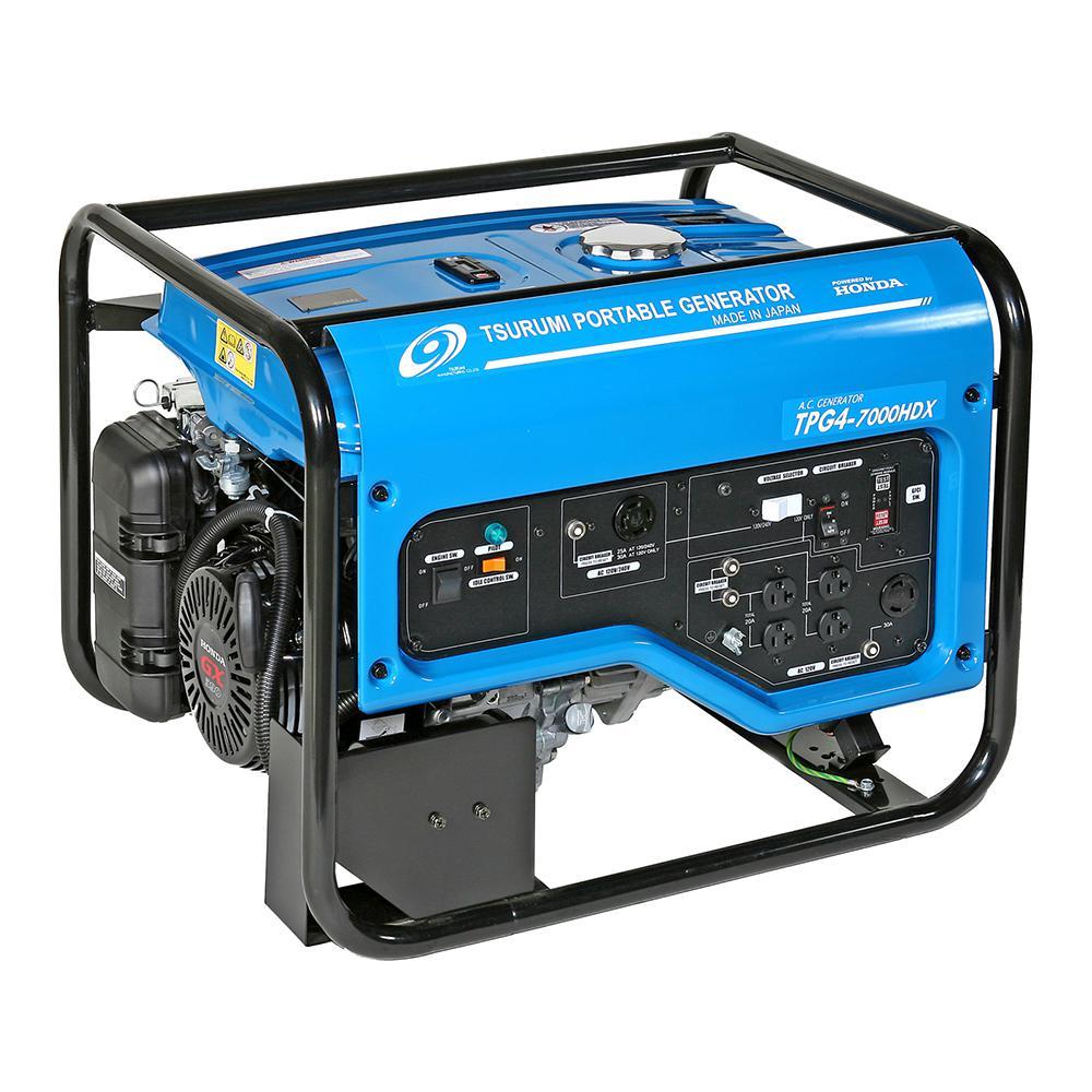 Tsurumi Pump 6,000 Watt Gasoline Powered Portable Blue Ge.