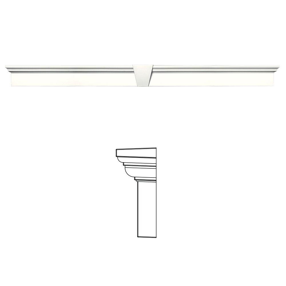 6 in. x 73-5/8 in. Flat Panel Window Header with Keystone