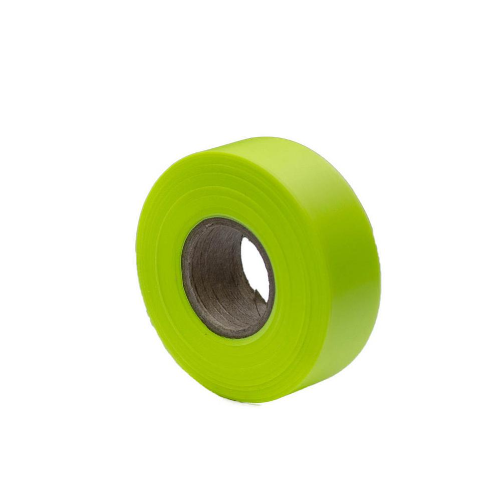 Bon Tool 1-3/16 in. x 150 ft. Fluorescent Lime Flagging Tape (12-Pack)